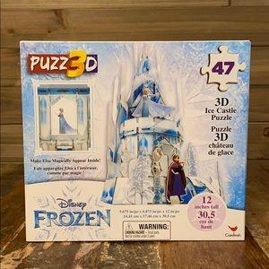 NEW! DISNEY FROZEN ELSA'S ICE CASTLE 3D PUZZLE